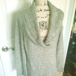 White House Black Market silver sweater